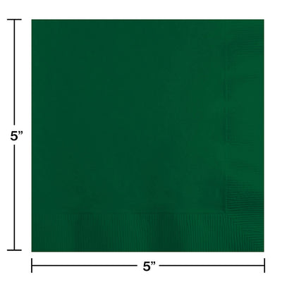 Hunter Green Beverage Napkin 2Ply, 50 ct Party Decoration