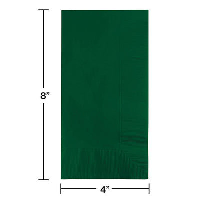 Hunter Green Dinner Napkins 2Ply 1/8Fld, 100 ct Party Decoration