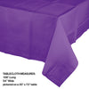 "Amethyst Tablecover 54""X 108"" Polylined Tissue Party Decoration"