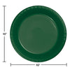 Hunter Green Plastic Banquet Plates, 20 ct Party Decoration