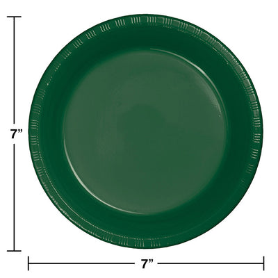 Hunter Green Plastic Dessert Plates, 20 ct Party Decoration