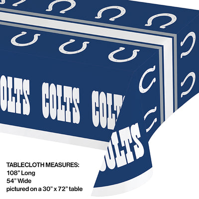 "Indianapolis Colts Plastic Tablecloth, 54"" X 108"" Party Decoration"