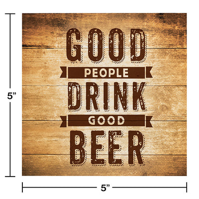 Cheers And Beers Beverage Napkins, Beer Quote, 16 ct Party Decoration