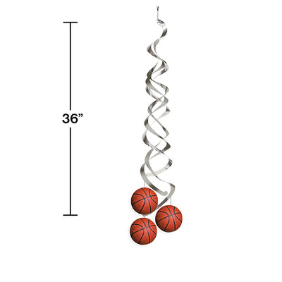 Basketball Deluxe Danglers, 2 ct Party Decoration