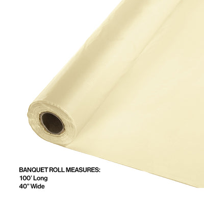 "Ivory Banquet Roll 40"" X 100' Party Decoration"