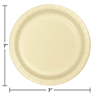 Ivory Dessert Plates, 24 ct Party Decoration