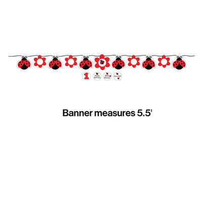 Ladybug Fancy Ribbon Banner Party Decoration