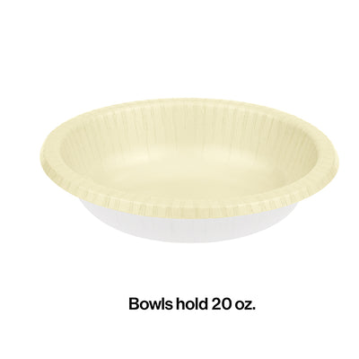 Ivory Paper Bowls 20 Oz., 20 ct Party Decoration