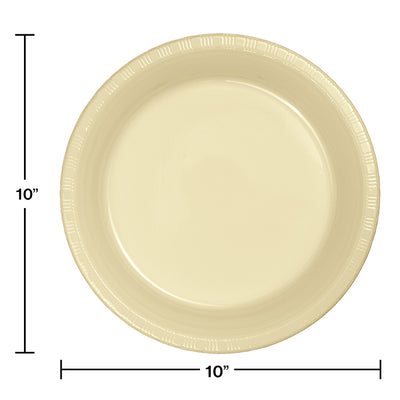 Ivory Plastic Banquet Plates, 20 ct Party Decoration