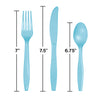 Pastel Blue Assorted Cutlery, 18 ct Party Decoration