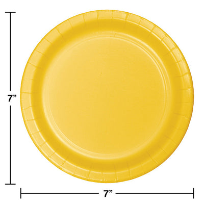 School Bus Yellow Dessert Plates, 24 ct Party Decoration