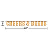Cheers And Beers Letter Banner Party Decoration