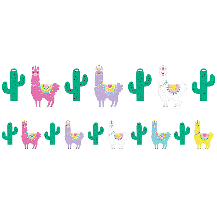 Llama Party Shaped Banner With Twine by Creative Converting