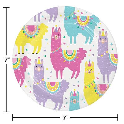 Llama Party Dessert Plates, 8 ct Party Supplies