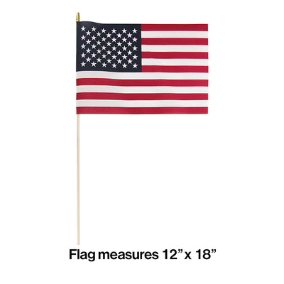 "Cloth Usa Flag, 12"" X 18"" Party Decoration"