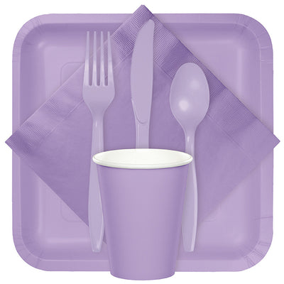 Luscious Lavender Purple Plastic Knives, 24 ct Party Supplies