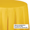"School Bus Yellow Tablecover, Octy Round 82"" Plastic Party Decoration"