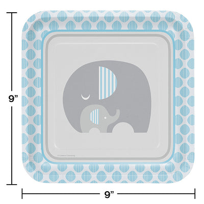 Little Peanut Boy Elephant Paper Plates, 8 ct Party Decoration