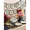 Black And Gold Paper Plates, 8 ct Party Supplies