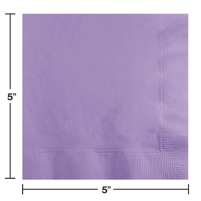 Luscious Lavender Beverage Napkin 2Ply, 50 ct Party Decoration