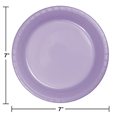 Luscious Lavender Purple Plastic Dessert Plates, 20 ct Party Decoration