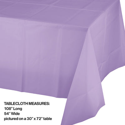 "Luscious Lavender Tablecover Plastic 54"" X 108"" Party Decoration"