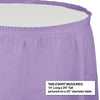 "Luscious Lavender Plastic Tableskirt, 14' X 29"" Party Decoration"