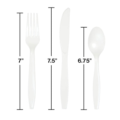 White Assorted Cutlery White, 18 ct Party Decoration