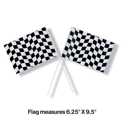 Black And White Check Flag Party Decoration