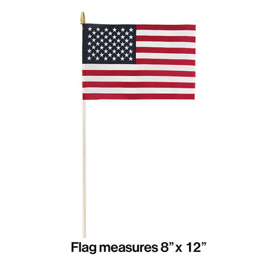 "Cloth Usa Flag, 8"" X 12"" Party Decoration"