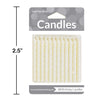 White Candles, 24 ct Party Decoration