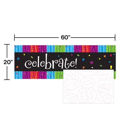 Milestone Celebrations Giant Party Banner W/Stck Party Decoration