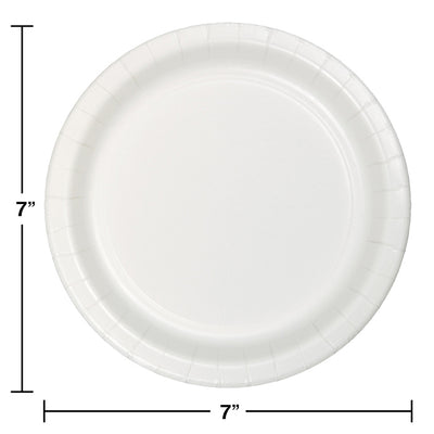White Luncheon Plate, 75 ct Party Decoration