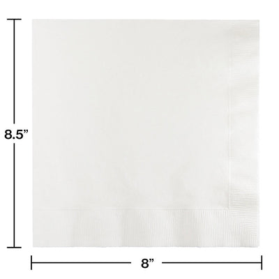 White Dinner Napkins 3Ply 1/4Fld, 25 ct Party Decoration