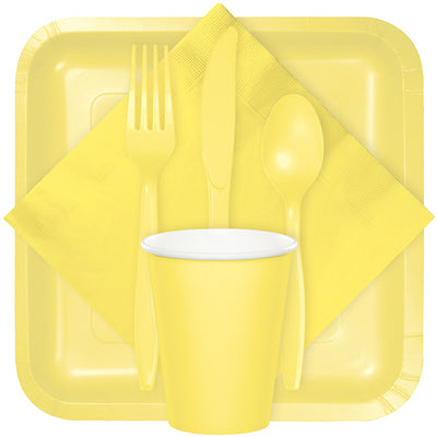 Mimosa Yellow Assorted Plastic Cutlery, 24 ct Party Supplies