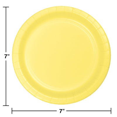 Mimosa Yellow Dessert Plates, 24 ct Party Decoration