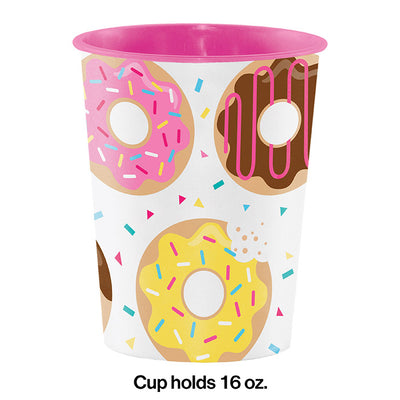 Donut Time Plastic Keepsake Cup 16 Oz. Party Decoration