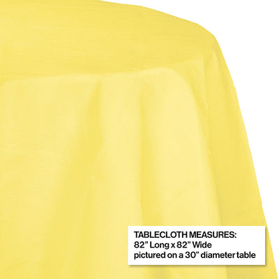 "Mimosa Tablecover, Octy Round 82"" Polylined Tissue Party Decoration"