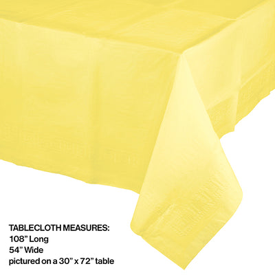 "Mimosa Tablecover 54""X 108"" Polylined Tissue Party Decoration"
