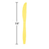 Mimosa Yellow Plastic Knives, 24 ct Party Decoration