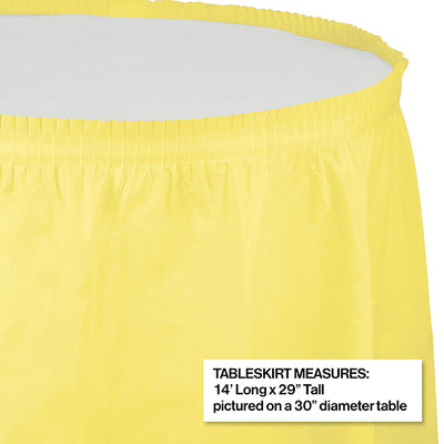 "Mimosa Plastic Tableskirt, 14' X 29"" Party Decoration"