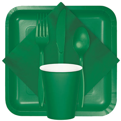 Emerald Green Dinner Napkins 2Ply 1/8Fld, 50 ct Party Supplies