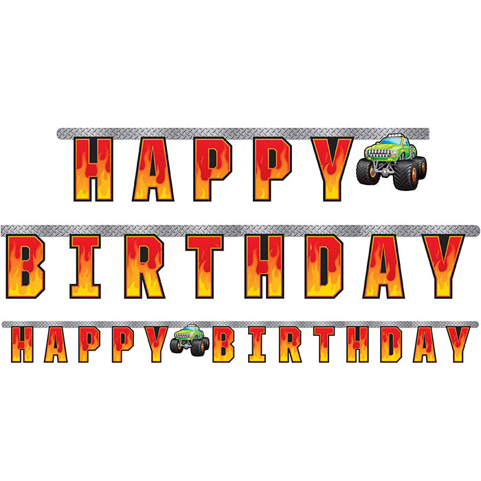 Monster Truck Rally Jointed Banner Lg by Creative Converting