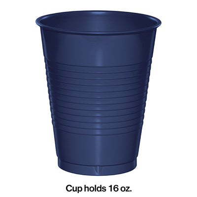 Navy Blue Plastic Cups, 20 ct Party Decoration