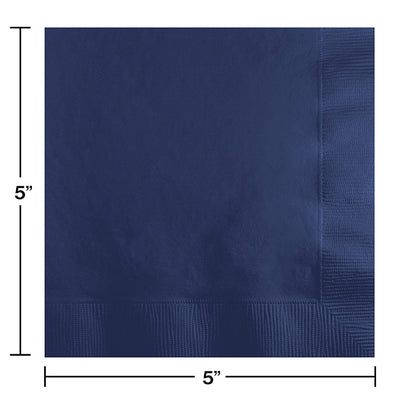 Navy Beverage Napkin 2Ply, 50 ct Party Decoration