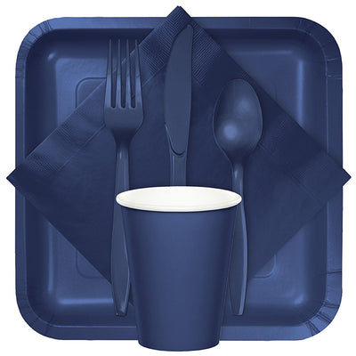 Navy Blue Plastic Forks, 24 ct Party Supplies
