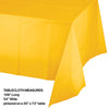 "School Bus Yellow Tablecover Plastic 54"" X 108"" Party Decoration"