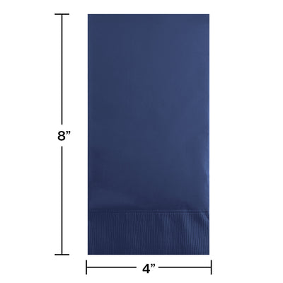 Navy Guest Towel, 3 Ply, 16 ct Party Decoration