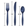 Navy Assorted Plastic Cutlery, 24 ct Party Decoration