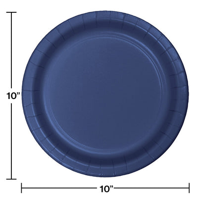 Navy Blue Banquet Plates, 24 ct Party Decoration